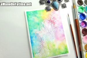 Como dibujar la mano fatima-color